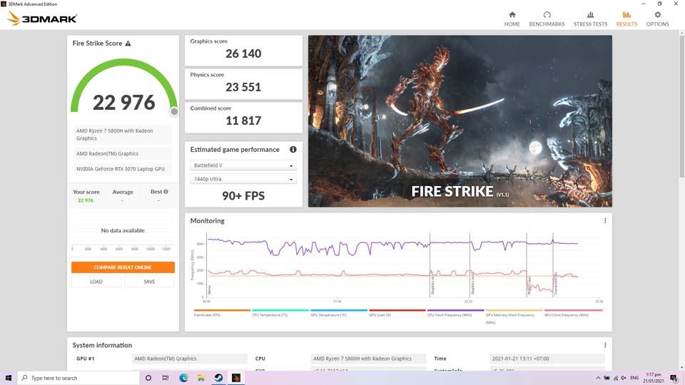 Sforum - Trang thông tin công nghệ mới nhất Screenshot-1 Trên tay và trải nghiệm nhanh Laptop ROG Strix G17 thế hệ mới: Nâng cấp diện mạo, hiệu năng cải tiến, hướng đến game thủ Esports
