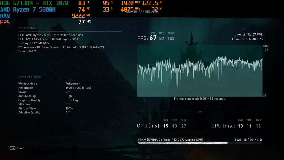 Sforum - Trang thông tin công nghệ mới nhất Screenshot-45 Trên tay và trải nghiệm nhanh Laptop ROG Strix G17 thế hệ mới: Nâng cấp diện mạo, hiệu năng cải tiến, hướng đến game thủ Esports