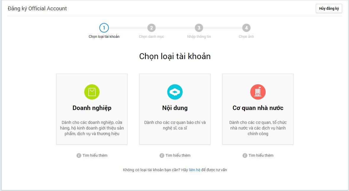 Sforum - Trang thông tin công nghệ mới nhất cac-loai-tai-khoan-zalo-oa Zalo OA là gì? Hướng dẫn cách tạo Zalo Official Account từ A - Z