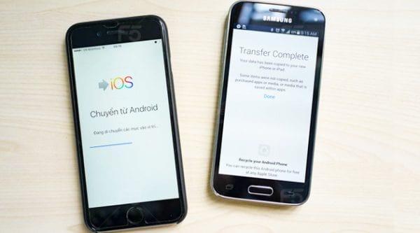 Chuyển Dữ Liệu Android Sang iPhone