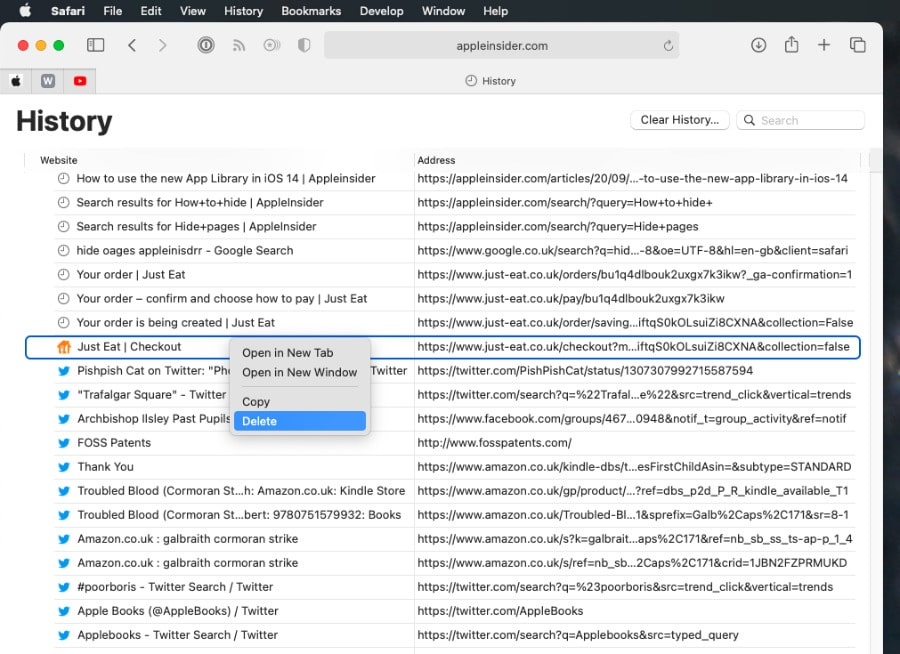 Cách xóa lịch sử Safari trên iPhone hoặc Macbook