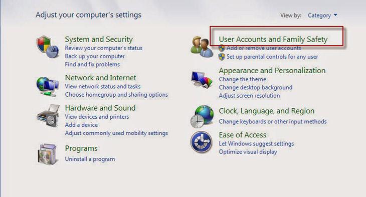 cách cài mật khẩu máy tính bước 2