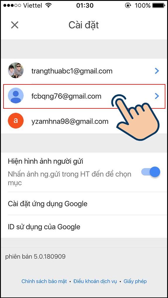cách đổi tên gmail bước 3