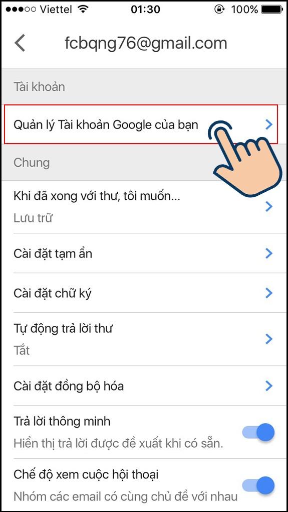 cách đổi tên gmail bước 4