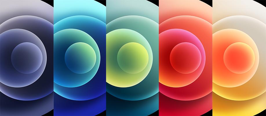 hình nền iPhone 12 Pro Max màu sắc
