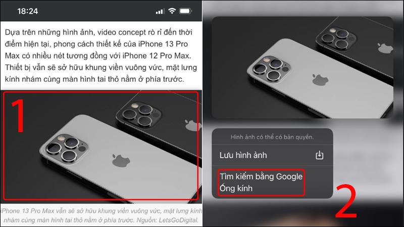 tìm kiếm bằng hình ảnh trên điện thoại trên web