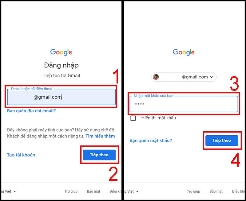 gmail đăng nhập máy tính