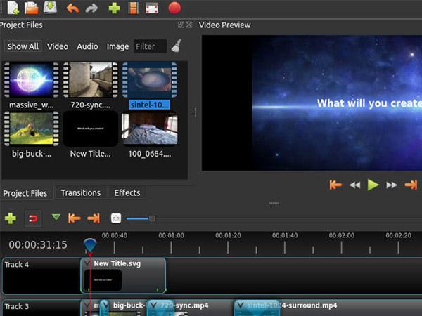 phần mềm chỉnh sửa video OpenShot